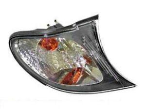 BMW E46 2001-2005 Turn Signal Light Clear+Black Right Front Blinker Lamp Corner