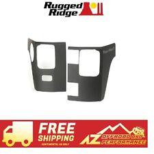 Rugged Ridge Rear Corner Body Armor 07-18 Jeep Wrangler JK 2 Door 11651.07 Black