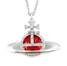 Fashion red big diamond long necklace