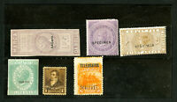 Worldwide Early Rare Specimen Stamp Set Of 6