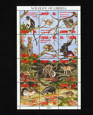 (SBAA 232) Liberia 1993 MNH Wild Animals Monkey Sheet