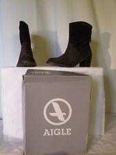 bottines AIGLE nubuck marron  39