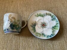 Highland Stoneware Cup And Saucer Free Hand Painted Scotland