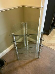 Alphason AD5/47S HiFi Separates Stand Rack Glass 5 Shelf excellent Condition