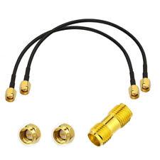 2x Sma Cable &Sma Female Adapter For Vhf Uhf Vna Vector Network Analyzer Antenna
