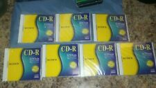 Lot of 7 Sony CD-R 650MB / 74Min w/Full Size Jewel Cases CDQ-74CN - New Sealed