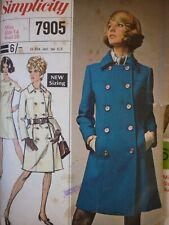 VINTAGE 1960'S SIMPLICITY DESIGNER COAT & DRESS SEWING PATTERN