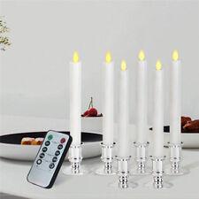 6PCS Electronic LED Flameless Carve Swing Flickering Simulation Candle Light