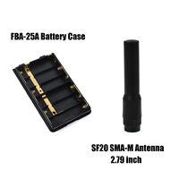 AA Battery Case FBA-25A + Mini Dual Band Male Antenna for YAESU-VERTEX FT-60R