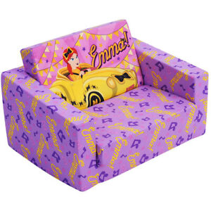 Emma Wiggle 60cm Flip Out Home Sofa/Couch/Chair Kids/Children Furniture Purple