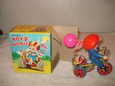 VINTAGE MTU TIN WIND-UP BOYS TRICYCLE NEW IN BOX KOREA