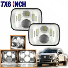 "Osra 2PCS 5X7"" 7x6"" Inch LED Clear Headlight For Jeep Cherokee XJ YJ Ford GMC"
