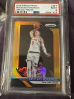 2018 Panini Orange Prizm /49 Kristaps Porzingis PSA 10 Rare Low Pop 49 Only $350