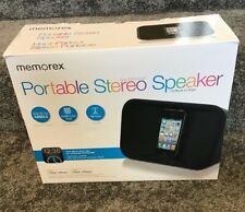 Memorex portable stereo speaker MA7221 for iPod and iPhone App Enhanced