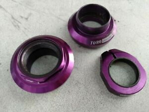 "Purple Odyssey Toro Pro BMX Headset Roller Bearing 3DV 1"" Threaded with Lockring"