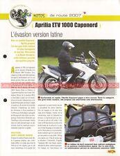APRILIA ETV 1000 Caponord 2007 Joe Bar Team Fiche Moto #000274