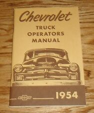 1954 Chevrolet Truck Owners Operators Manual 54 Chevy