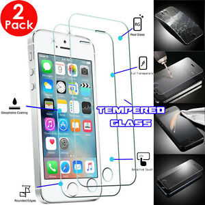 """2 Pack Genuine TEMPERED GLASS Invisible Screen Protector For 4"""" iPhone SE 2016"""