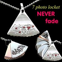 Unusual 6-7 photo Locket Silver rosegold white gold Womens Gifts For Christmas