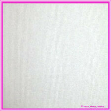 25 x Metallic Silver Pinstrip embossed Shimmer Card 250gsm - Ink Jet Compatible