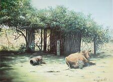 Chris Postle, Retired, Farmyard, Limited Edition, Australian Landscape.