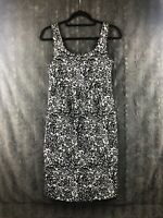 Liz Lange Maternity Dress Size XS Black Silver Floral Pattern