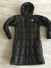 The North Face Metropolis Fill Down 600 Hooded BROWN Parka Woman Size ''S''