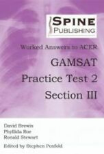 Worked Answers to ACER GAMSAT Practice Test 2 Section III