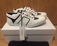 Versace Collection Off-White Low Top Logo Trainers Sneakers UK 6.5