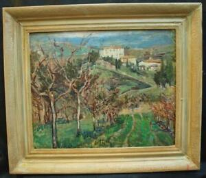 """c1900 FRENCH IMPRESSIONIST """"PROVENCE LANDSCAPE""""  Antique Oil Painting"""