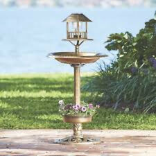 Outdoor Garden Patio Yard Solar Pedestal Decorative Bird Wildlife Feeder/Bath