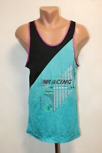 Racing With Adidas Vintage Vest Running Sleeveless Jersey Size S France 80s 90s