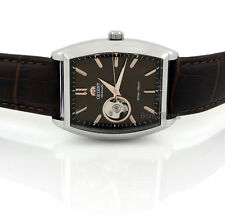 ORIENT MEN JAPAN MADE AUTOMATIC SOLID STEEL 37mm X 46mm LEATHER FDBAF003T0