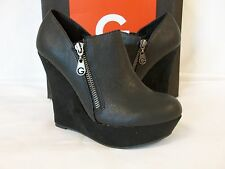 Guess 9.5 Perika Black Wedges New Womens Shoes NWOB