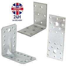 SS8® Flat and Corner Angle Brackets Galvanised Steel Heavy Duty MIX & MATCH