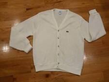 Vintage Men's large IZOD LACOSTE off white Cardigan