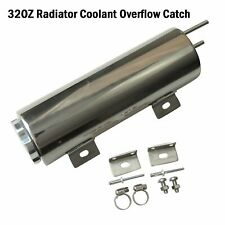 """3"""" X 10"""" 32Oz Polished Stainless Steel Radiator Coolant Overflow Catch Tank Can"""