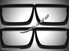 2010-2013 CHEVROLET CAMARO BEZEL TAILLIGHTS NON-GLOSSY STYLE FLAT BLACK 4PCS