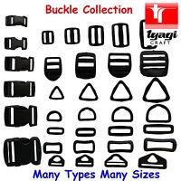 Assorted Buckles Adjustable Webbing Strap Black Clasp Rucksack Backpack Slider