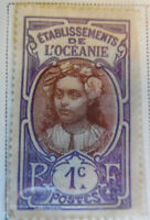 French Oceania 1913-15 Stamp 1c MNH Stamp Rare Antique StampBook1-83