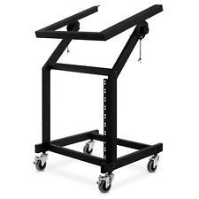 Auna Rack DJ PA 48cm Stand Supporto 21 altezze Regolabili Mobile con rotelle