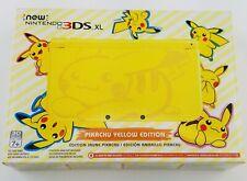 NEW Nintendo 3DS XL PIKACHU Yellow Limited Edition Pokemon Console USA Unopened