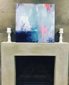 $250 EXTRA LARGE 75cm Modern Abstract Canvas Print Art White Black Pink Blue