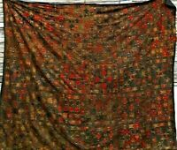 VINTAGE 1980S/90S AMAZING GYPSY BOHO BEJEWELED BEDSPREAD COVERLET WOW!