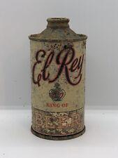"""El Rey """"flat bottom� Cone Top Beer Can San Francisco California"""