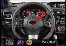 SUBARU Black Red Logo Badge for Steering wheel Impreza WRX STI JDM Hellaflush