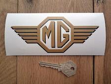 MG Con alas Logo Pegatina Para Ventanilla Negra Y Dorada 15.2cm Midget MGB MGA