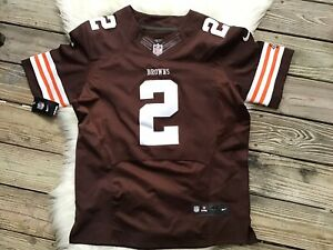 Nike NFL Cleveland Browns #2 Johnny Manziel Onfield Football Jersey Size 44