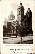 Postcard NJ West Hoboken St. Michael's Monastery Duplex Cancel 1906 F11