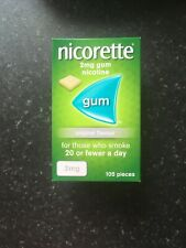 Nicorette 2mg Original Gum box of 105 pieces